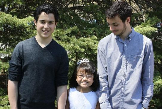 Faith and her big brothers