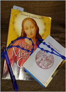 Morning Glory book with Rosary