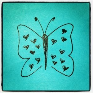 butterfly drawn