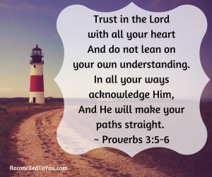 Lighthouse Image with Proverbs 3