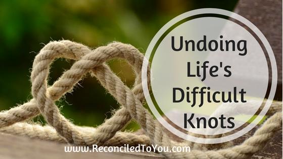 #WRW – Undoing Life's Difficult Knots