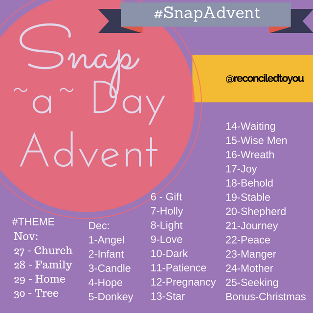 Snap a day Advent