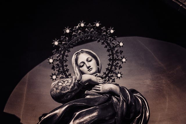 Mary with stars