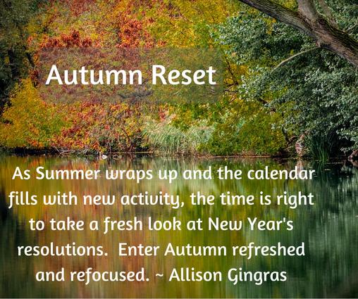 Autumn Water Scene