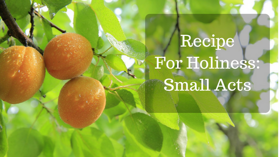 Recipe For Holiness:  Small Acts